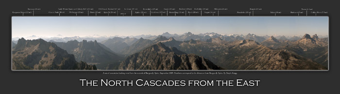 North Cascades Panorama from the east