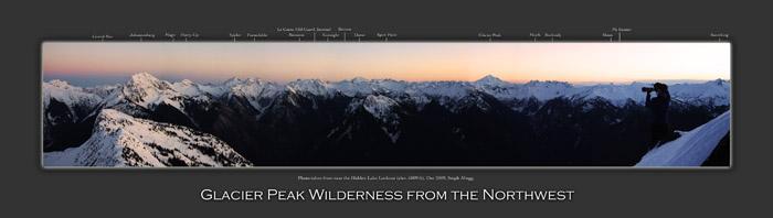 Glacier Peak Wilderness from the Northwest