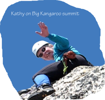 Kathy on Big Kangaroo Summit